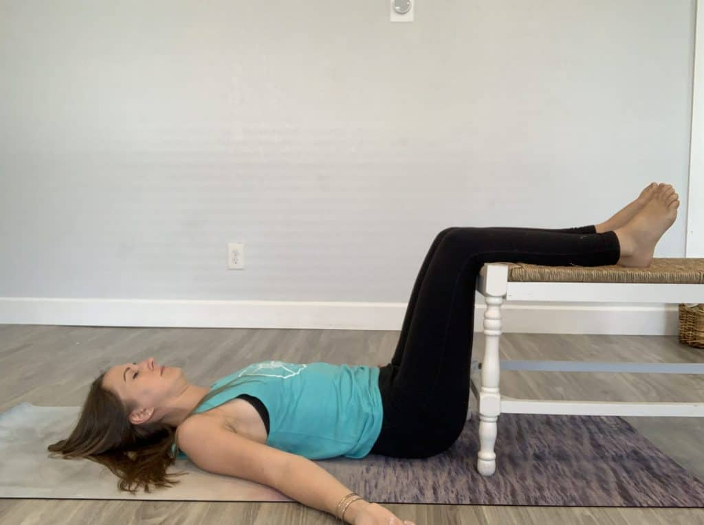 Static back pose for back pain, neck pain, and shoulder pain.
